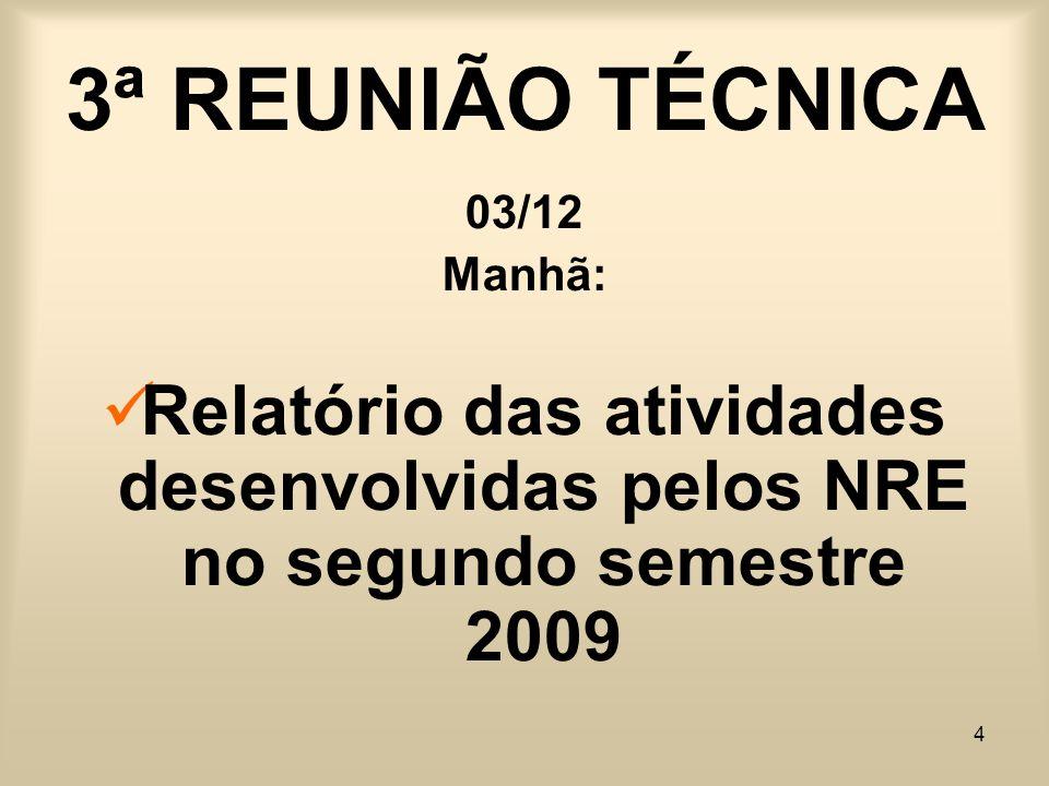 3ª REUNIÃO TÉCNICA 03/12.