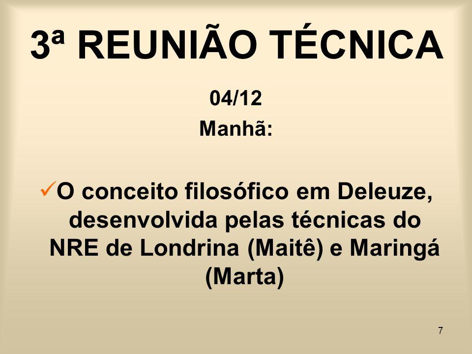 3ª REUNIÃO TÉCNICA 04/12.