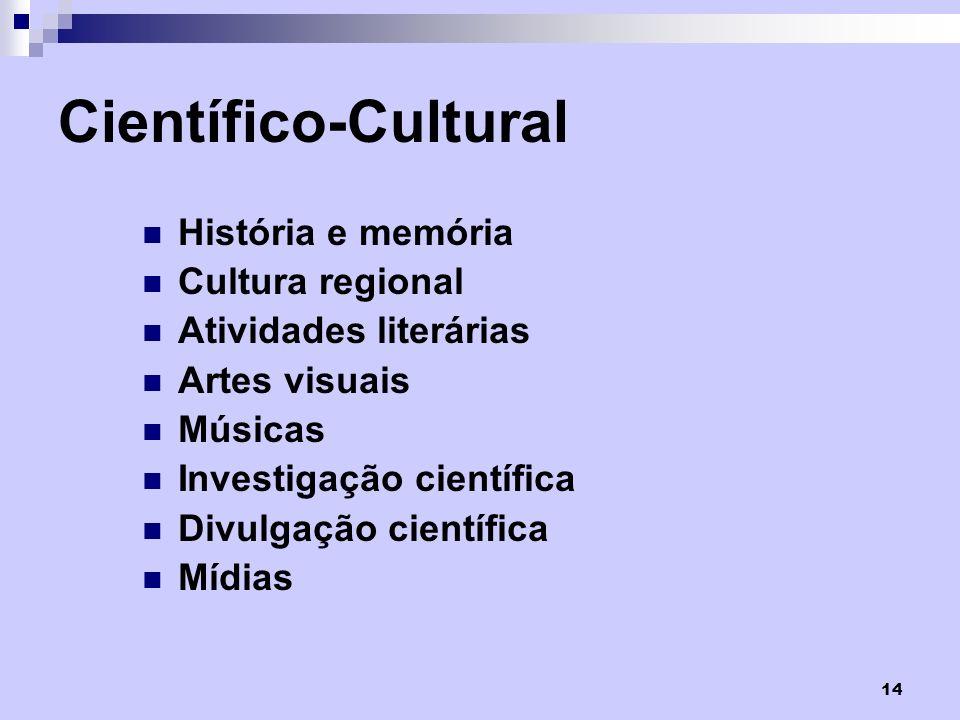 Científico-Cultural História e memória Cultura regional