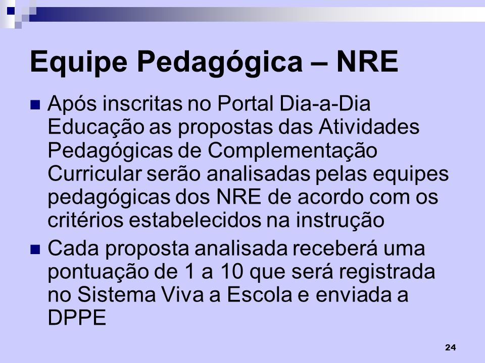 Equipe Pedagógica – NRE