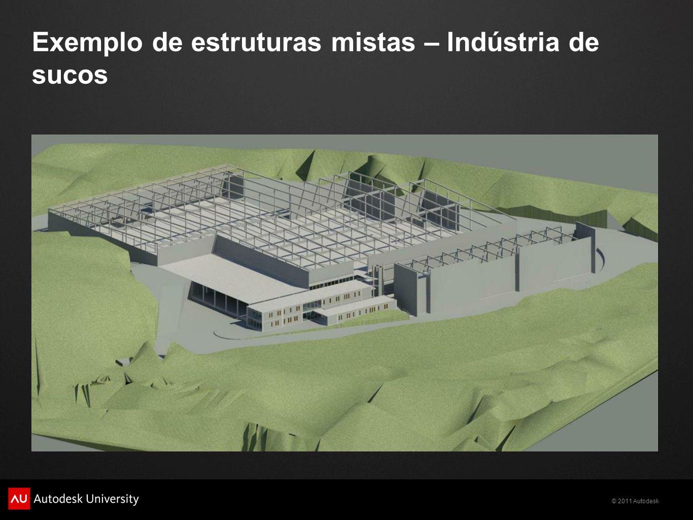 Exemplo de estruturas mistas – Indústria de sucos