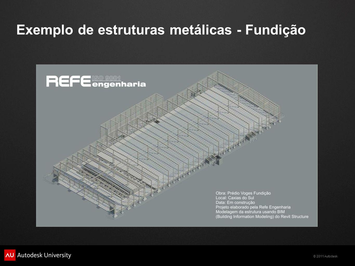 Exemplo de estruturas metálicas - Fundição