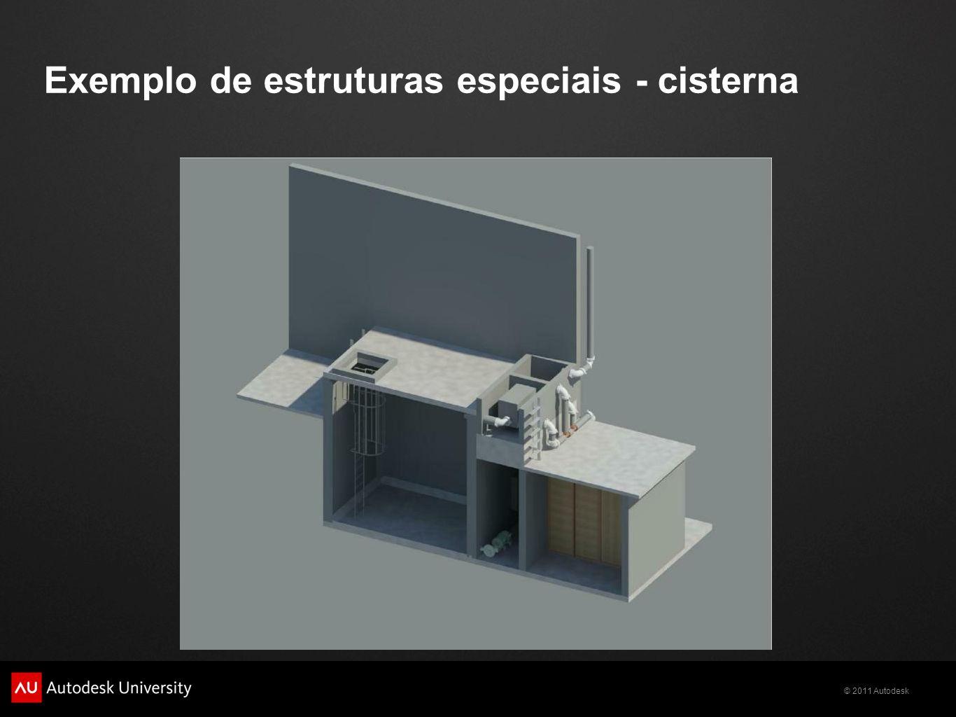 Exemplo de estruturas especiais - cisterna