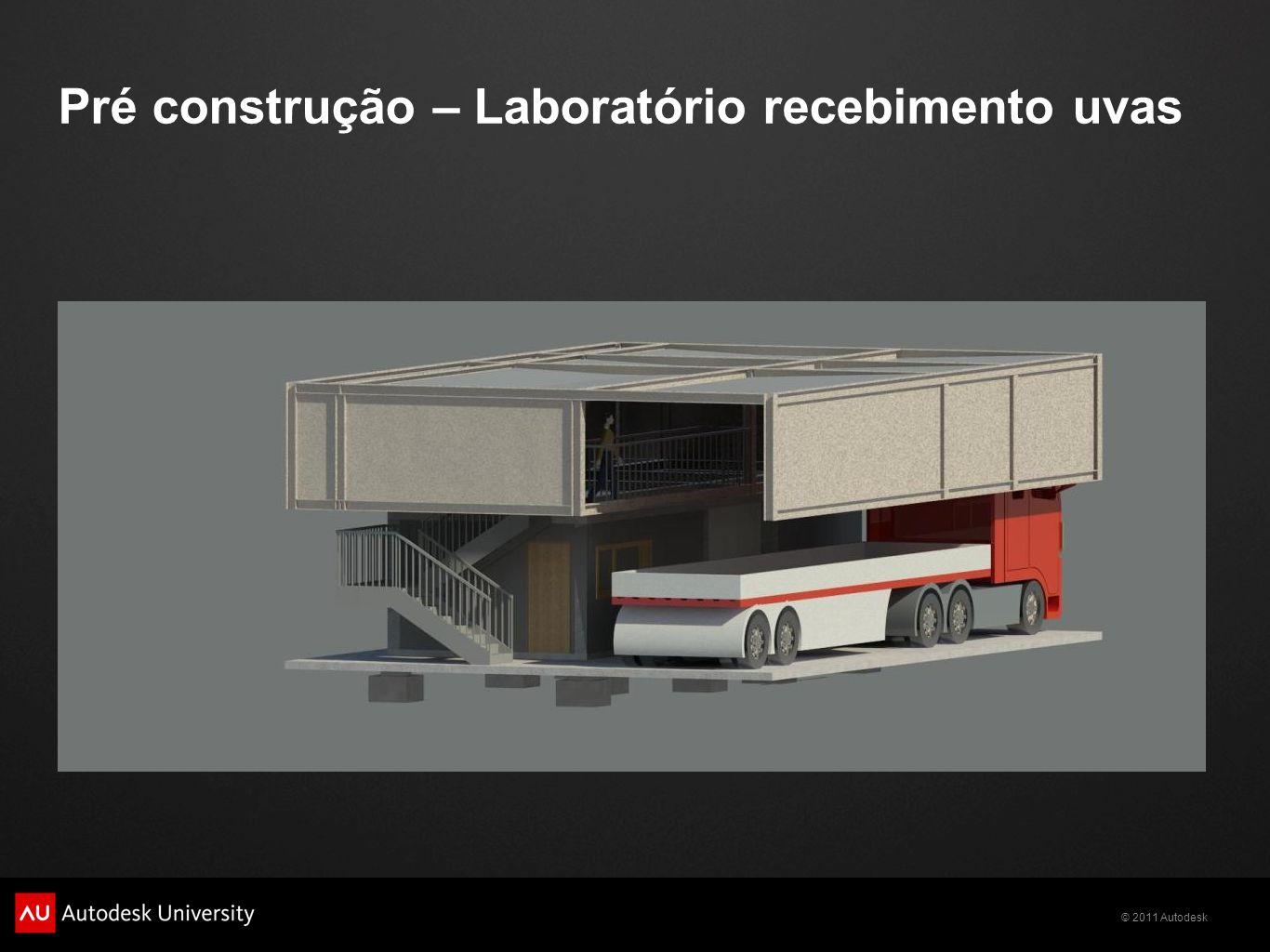 Pré construção – Laboratório recebimento uvas
