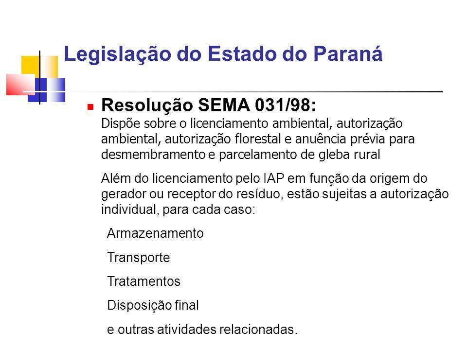 Legislação do Estado do Paraná