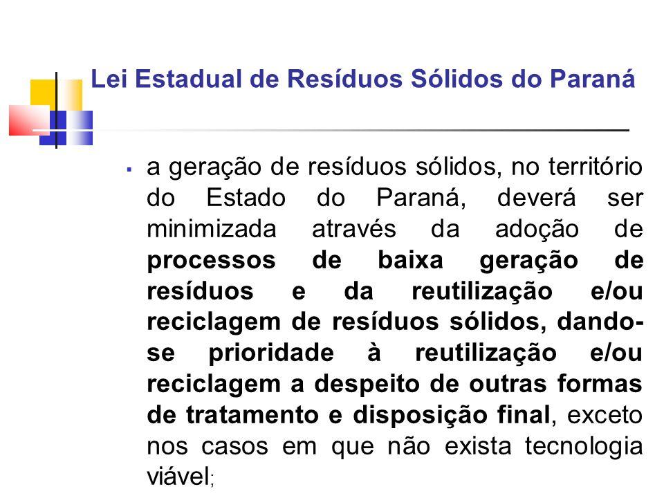 Lei Estadual de Resíduos Sólidos do Paraná
