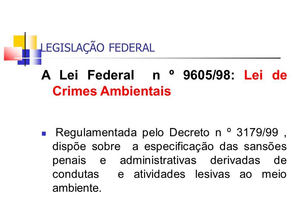 A Lei Federal n º 9605/98: Lei de Crimes Ambientais