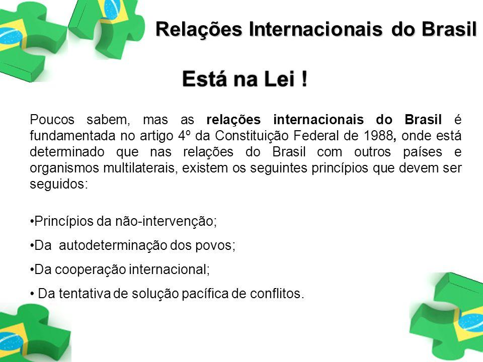 Está na Lei ! Relações Internacionais do Brasil