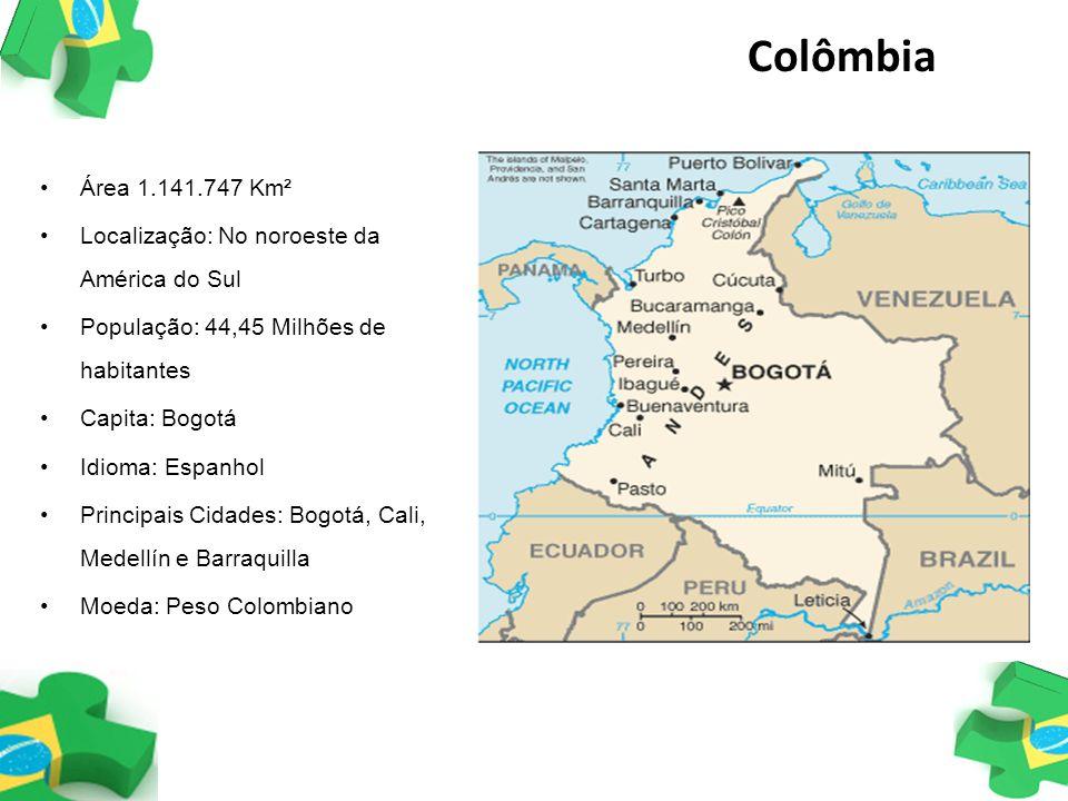 Colômbia Área 1.141.747 Km² Localização: No noroeste da América do Sul