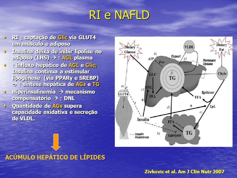 RI e NAFLD ACÚMULO HEPÁTICO DE LÍPIDES