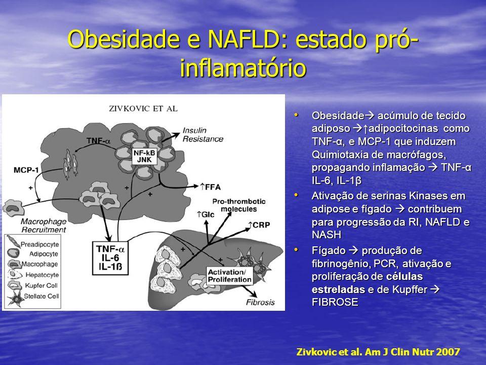 Obesidade e NAFLD: estado pró-inflamatório