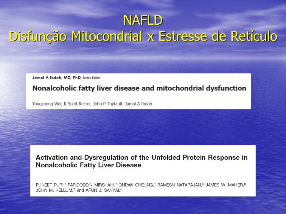 NAFLD Disfunção Mitocondrial x Estresse de Retículo