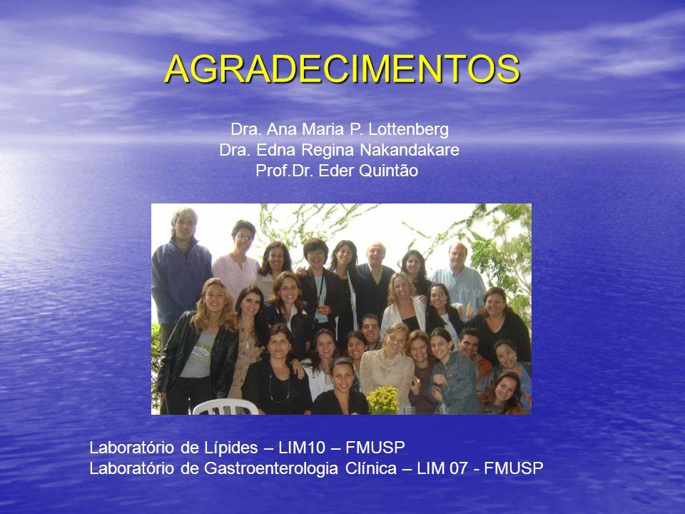 AGRADECIMENTOS Dra. Ana Maria P. Lottenberg