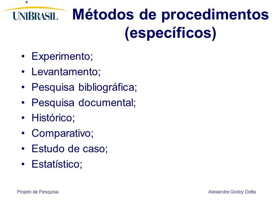 Métodos de procedimentos (específicos)