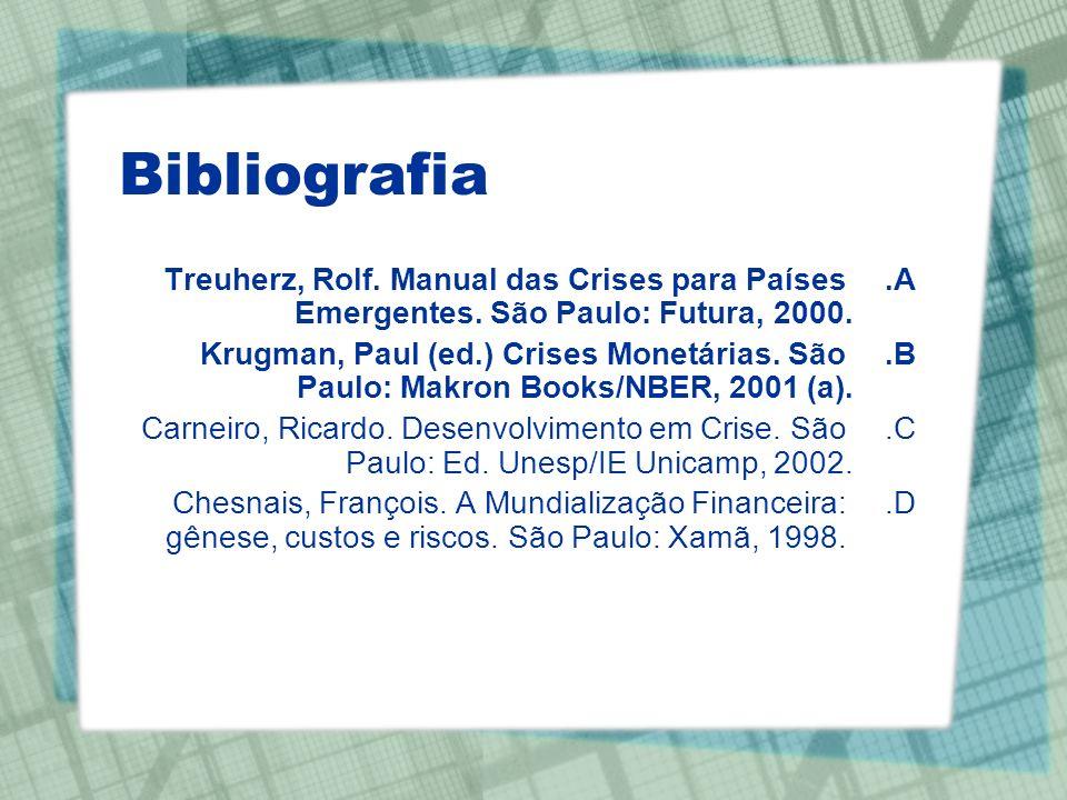 Bibliografia Treuherz, Rolf. Manual das Crises para Países Emergentes. São Paulo: Futura, 2000.