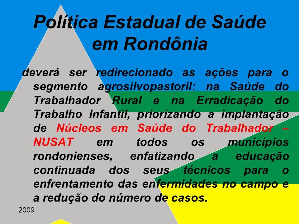 Política Estadual de Saúde em Rondônia