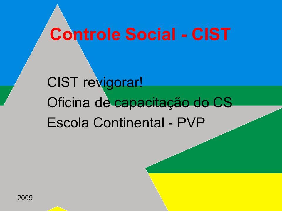Controle Social - CIST CIST revigorar! Oficina de capacitação do CS
