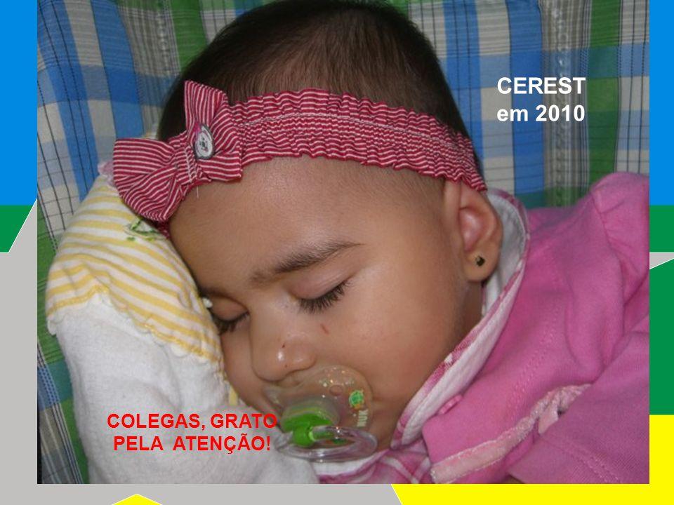 CEREST em 2010 COLEGAS, GRATO PELA ATENÇÃO!