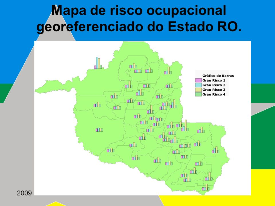 Mapa de risco ocupacional georeferenciado do Estado RO.