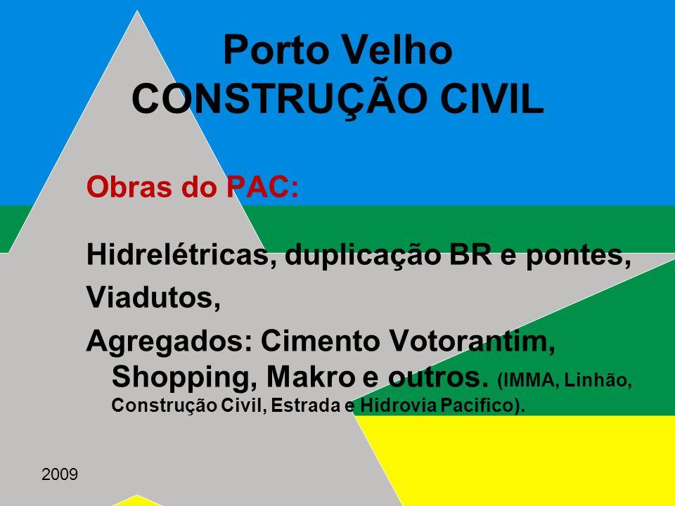 Porto Velho CONSTRUÇÃO CIVIL