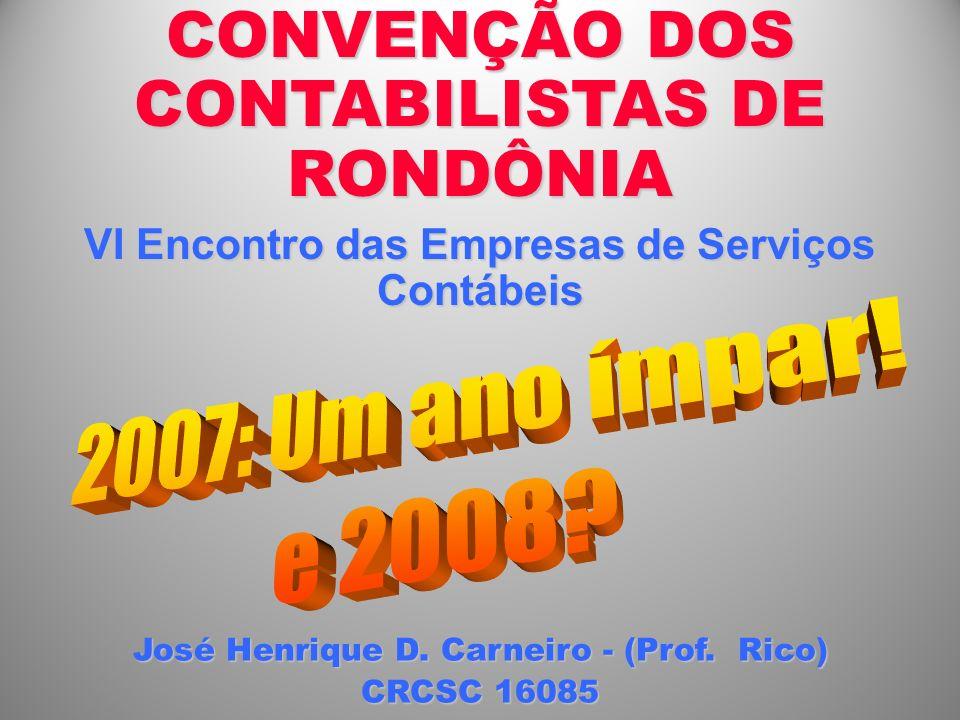 CONVENÇÃO DOS CONTABILISTAS DE RONDÔNIA