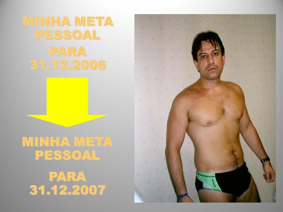 MINHA META PESSOAL PARA 31.12.2006 MINHA META PESSOAL PARA 31.12.2007