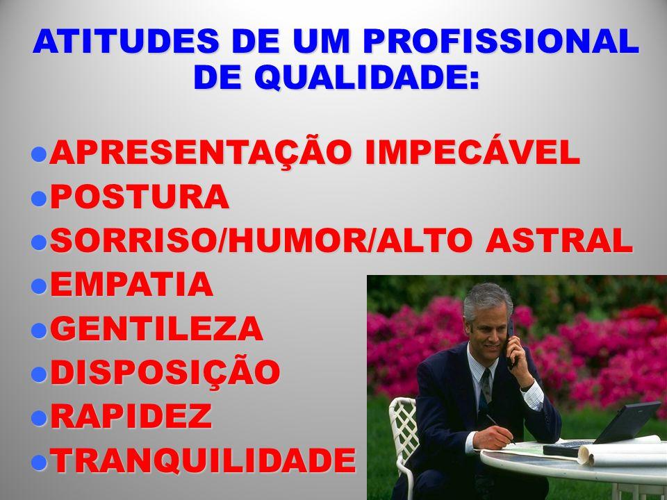 ATITUDES DE UM PROFISSIONAL DE QUALIDADE: