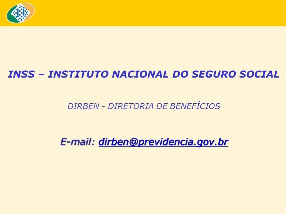 INSS – INSTITUTO NACIONAL DO SEGURO SOCIAL