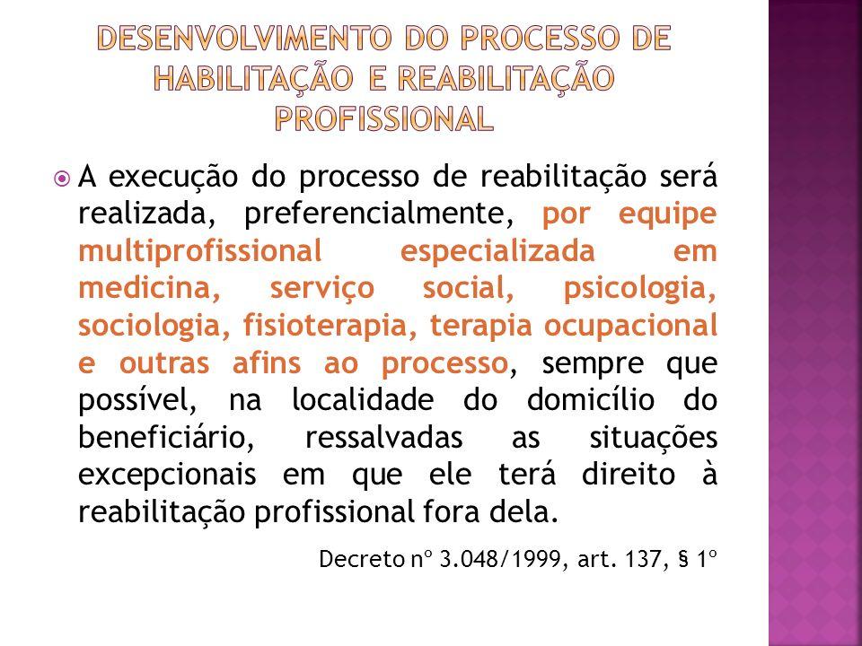 DESENVOLVIMENTO DO PROCESSO DE HABILITAÇÃO E REABILITAÇÃO PROFISSIONAL