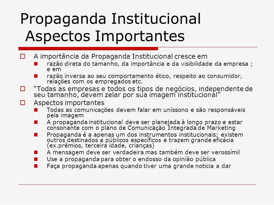 Propaganda Institucional Aspectos Importantes