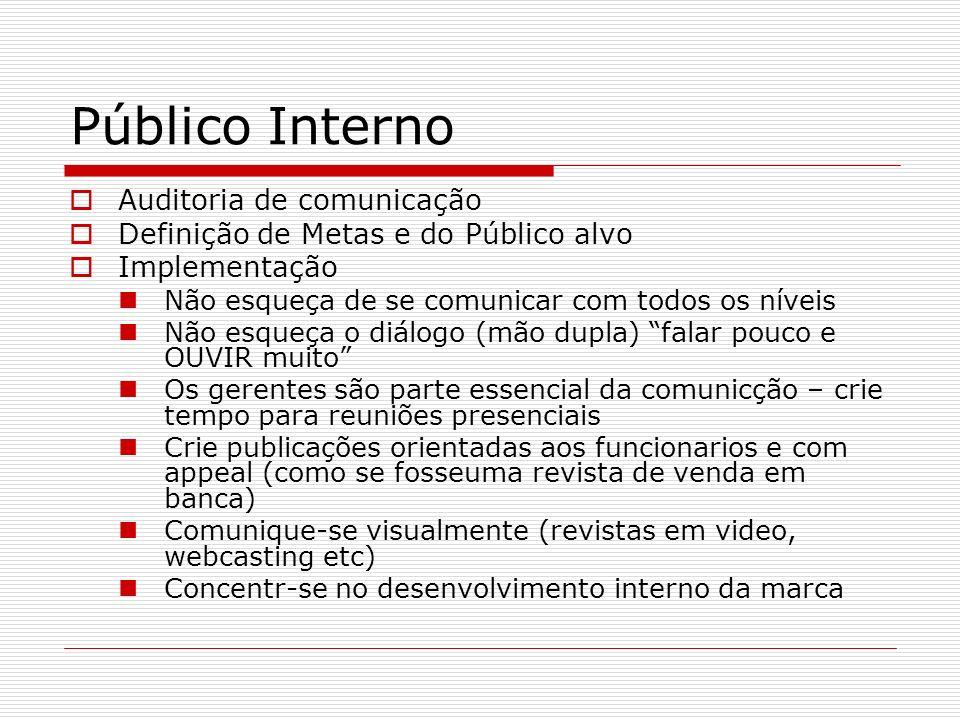Público Interno Auditoria de comunicação