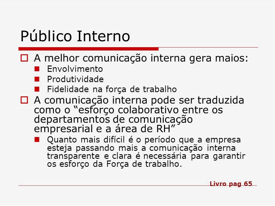 Público Interno A melhor comunicação interna gera maios: