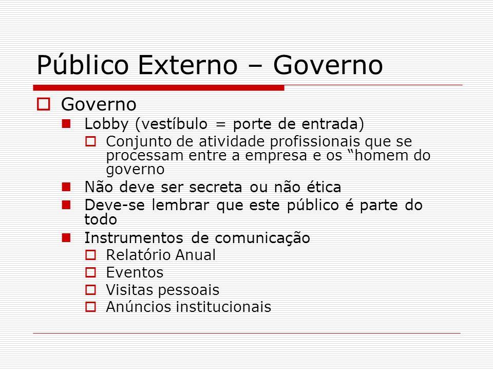 Público Externo – Governo
