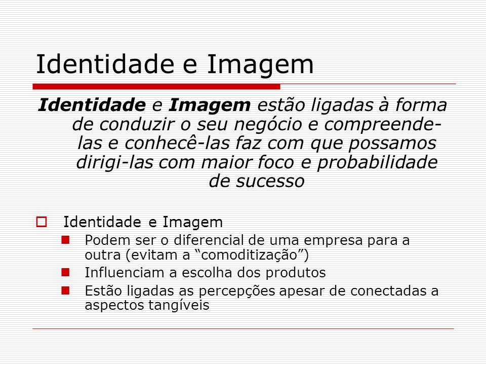 Identidade e Imagem
