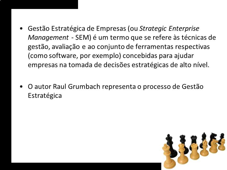 Gestão Estratégica de Empresas (ou Strategic Enterprise Management - SEM) é um termo que se refere às técnicas de gestão, avaliação e ao conjunto de ferramentas respectivas (como software, por exemplo) concebidas para ajudar empresas na tomada de decisões estratégicas de alto nível.