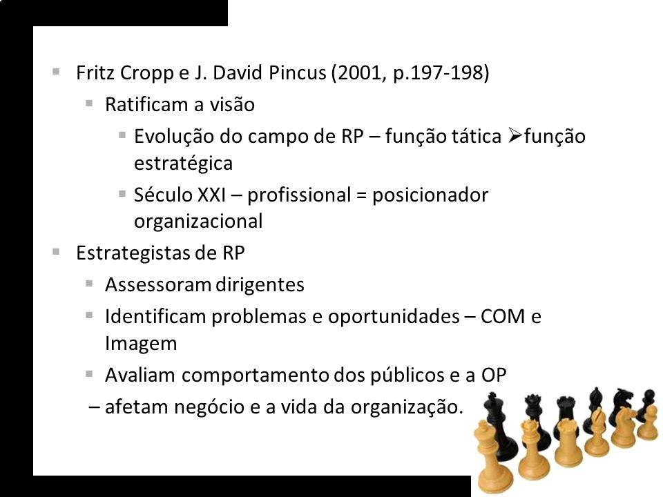 Fritz Cropp e J. David Pincus (2001, p.197-198)
