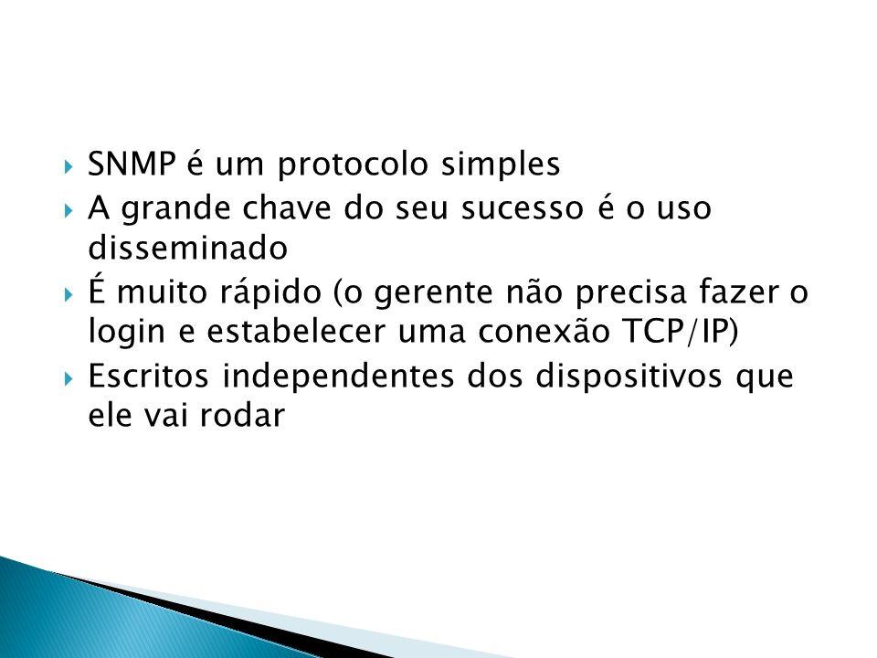 SNMP é um protocolo simples