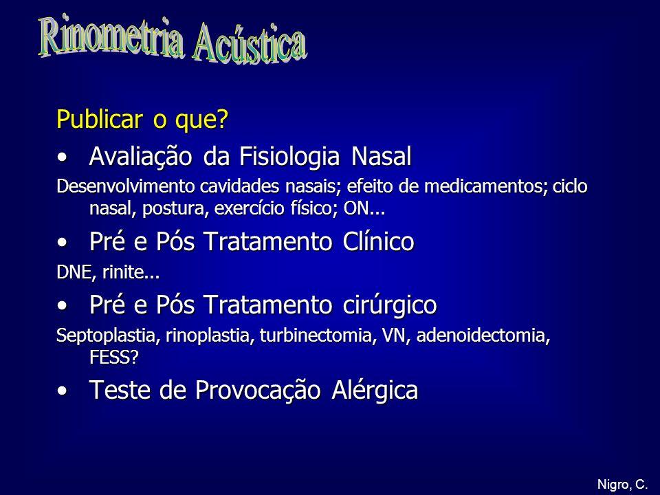 Rinometria Acústica Publicar o que Avaliação da Fisiologia Nasal