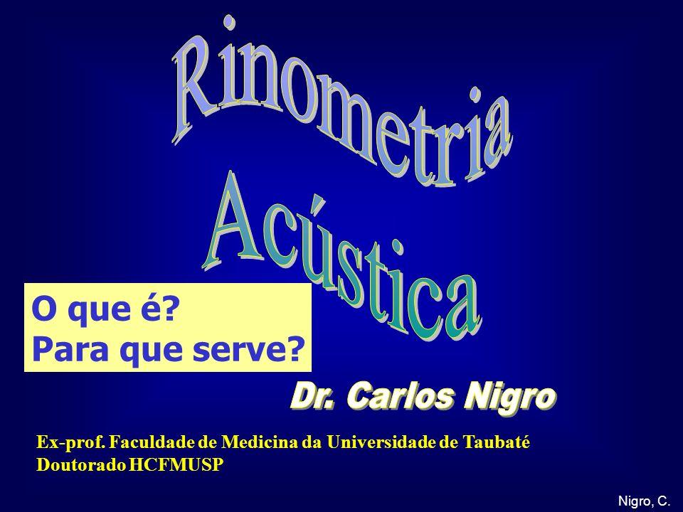 Rinometria Acústica O que é Para que serve Dr. Carlos Nigro