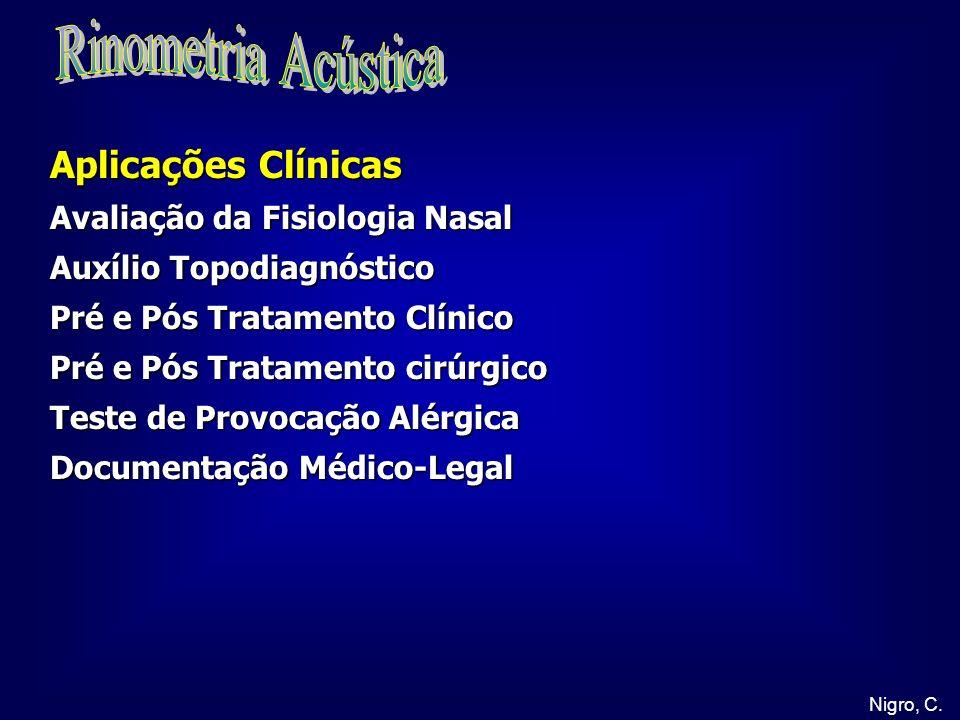 Rinometria Acústica Aplicações Clínicas Avaliação da Fisiologia Nasal