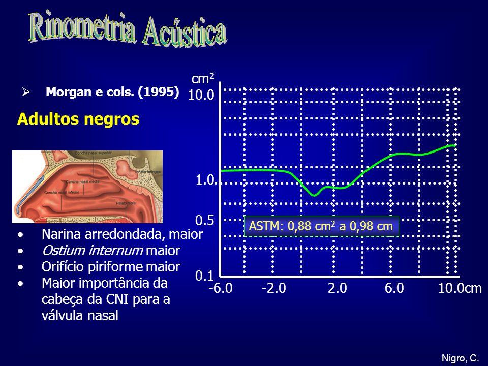 Rinometria Acústica Adultos negros cm2 10.0 1.0 0.5 0.1