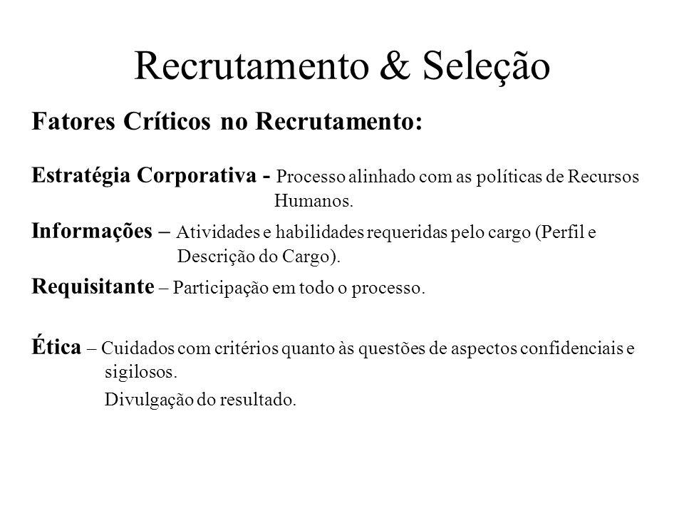 Recrutamento & Seleção