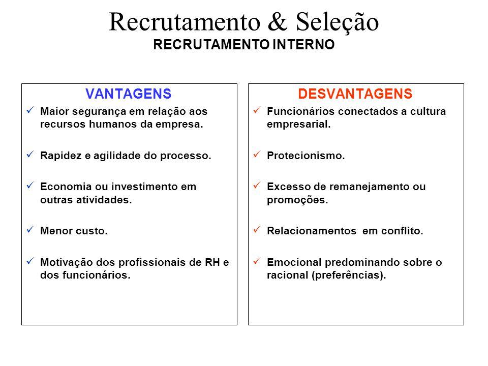 Recrutamento & Seleção RECRUTAMENTO INTERNO