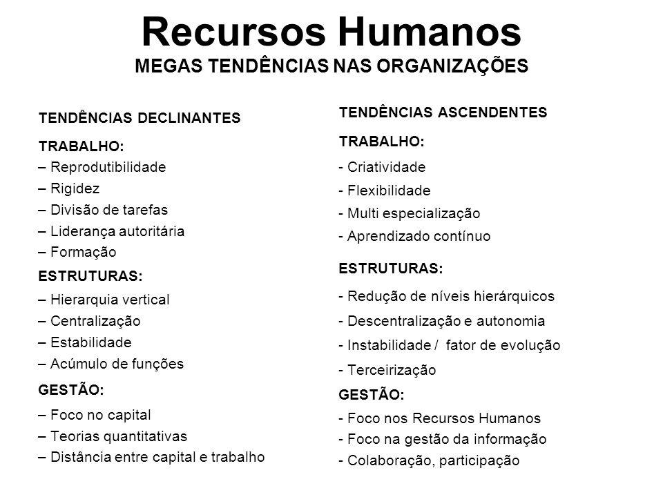 Recursos Humanos MEGAS TENDÊNCIAS NAS ORGANIZAÇÕES