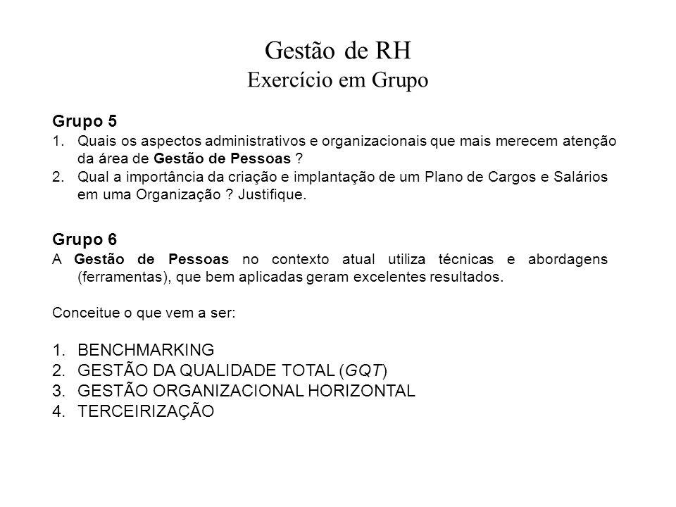 Gestão de RH Exercício em Grupo