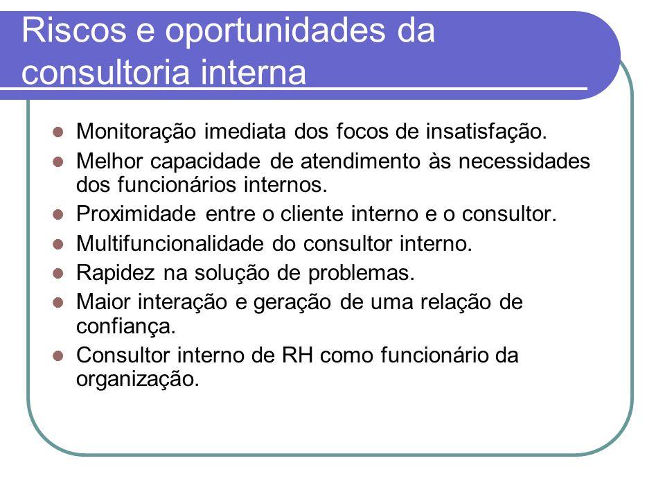 Riscos e oportunidades da consultoria interna