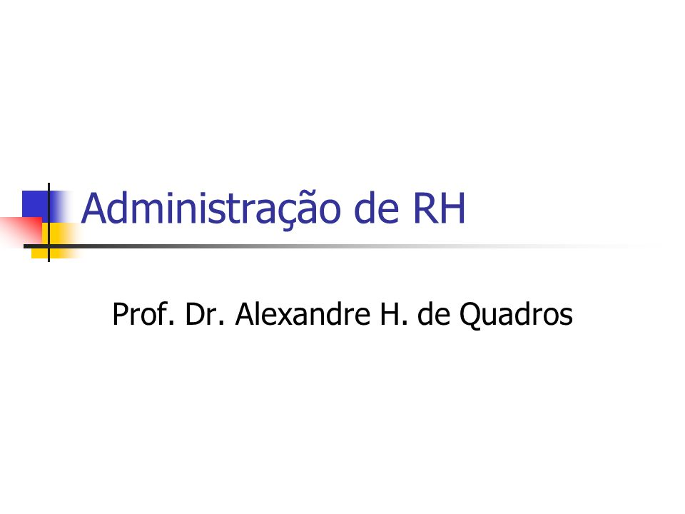 Prof. Dr. Alexandre H. de Quadros