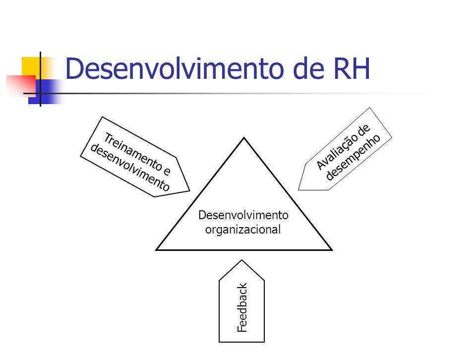 Desenvolvimento de RH Avaliação de desempenho Treinamento e