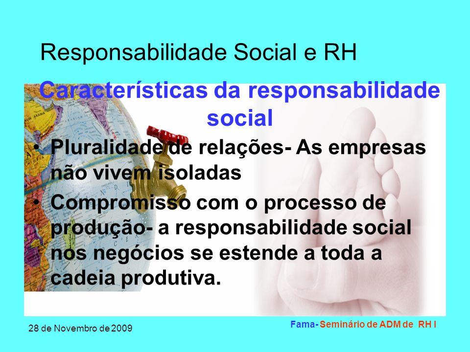 Características da responsabilidade social