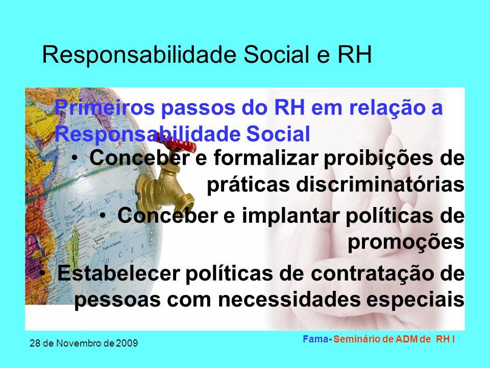 Primeiros passos do RH em relação a Responsabilidade Social
